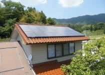 奥出雲町M様 3.67KWシステム(6人家族)の太陽光パネルを設置