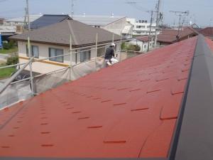 屋根の塗りなおし
