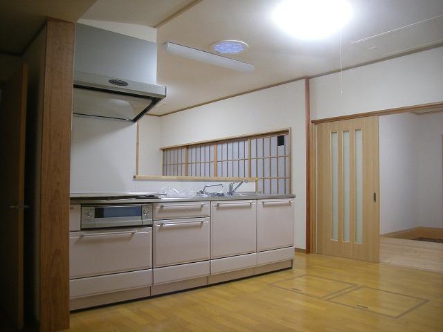 キッチンにスカイライトチューブ