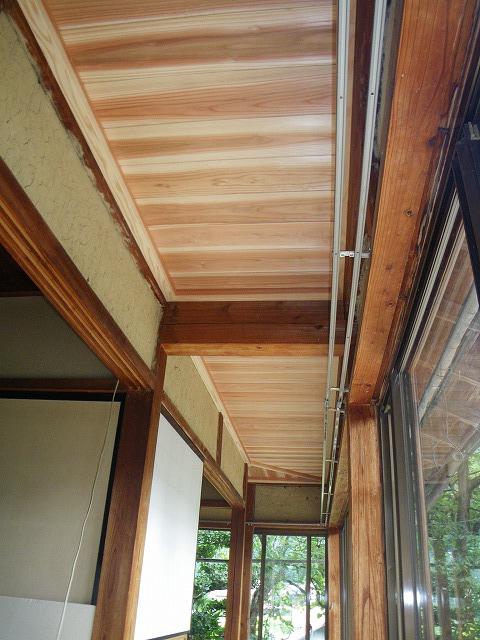 杉板の天井板