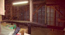 リフォーム前の小屋裏