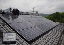 和瓦2面設置の太陽光発電