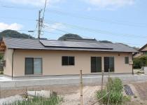 平屋新築住宅と太陽光発電システム